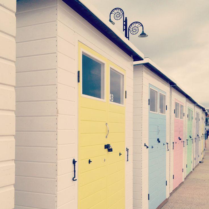 Beach huts in Lyme Regis