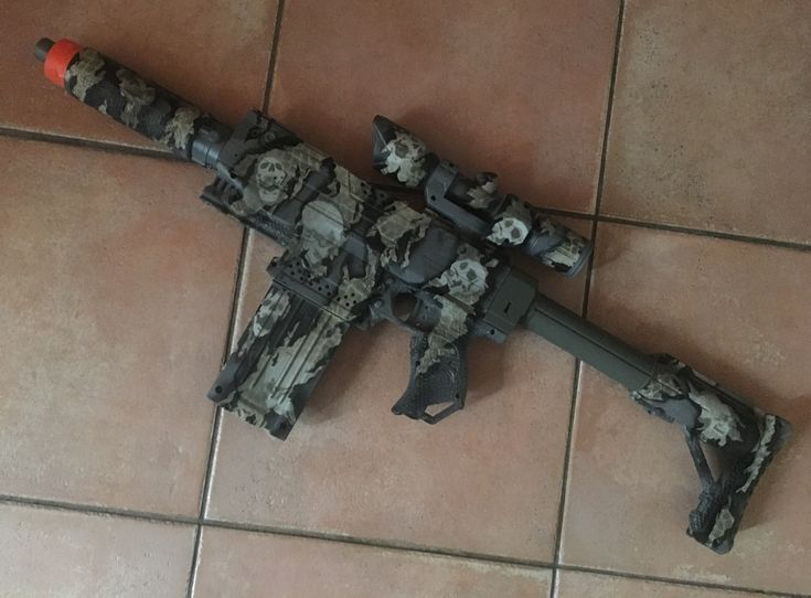 Custom Camo Nerf blasters ...