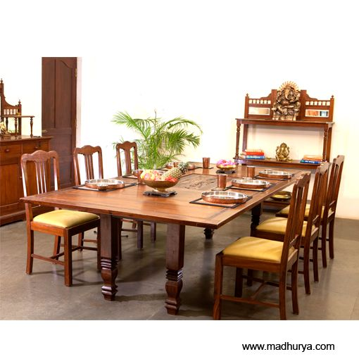 6 seater dining table india