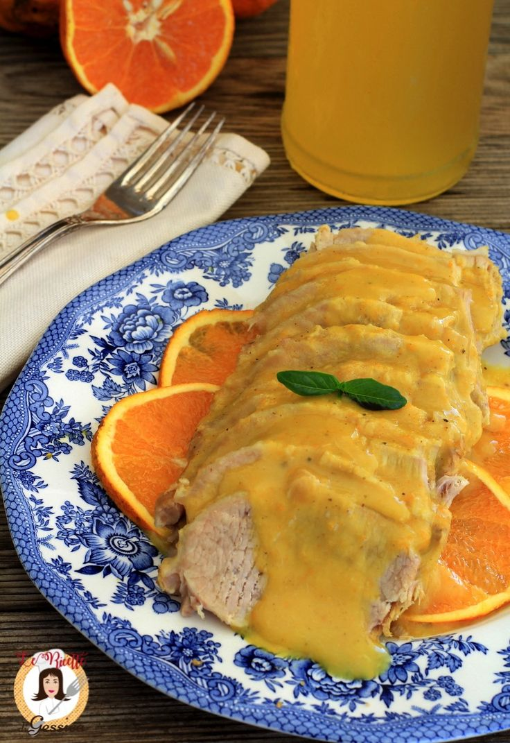Ricetta con e senza Bimby dell'Arista all'arancia o Lonza di maiale all'arancia cotta in padella. Un secondo piatto a base di carne bianca per le Feste