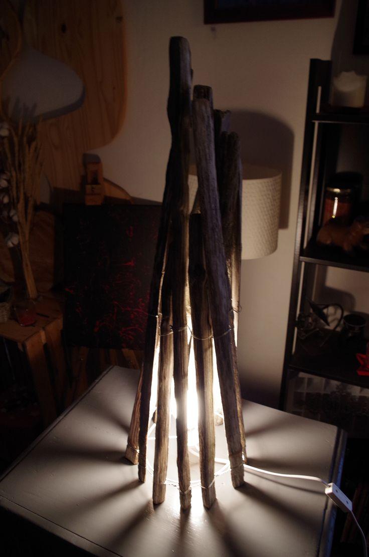 Création d'une lampe en ganivelles...