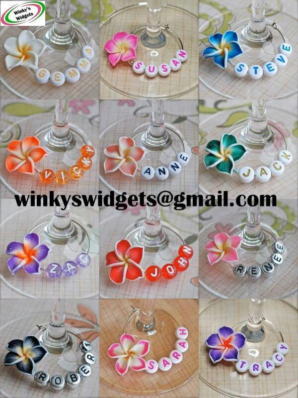 personalized wine glass charms using alphabet beads ~ cute! | via Winky's Widgets