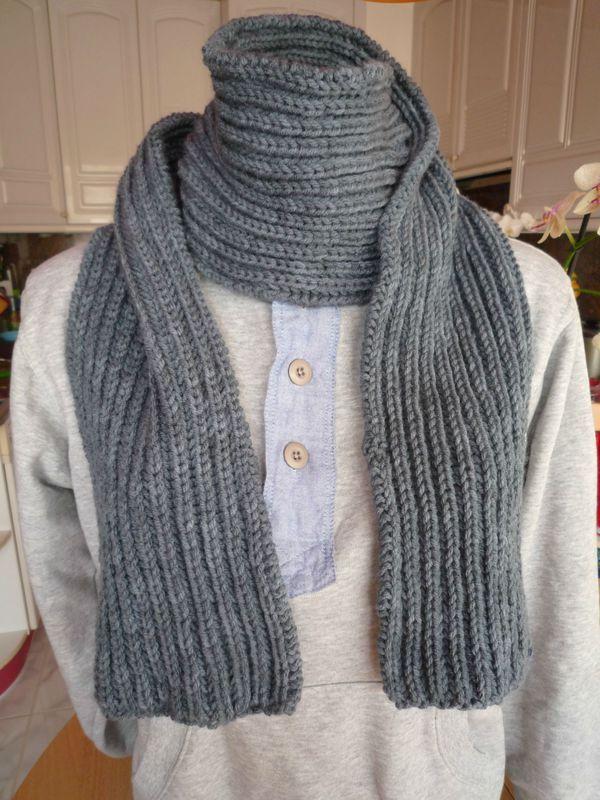 modele tricot echarpe laine homme