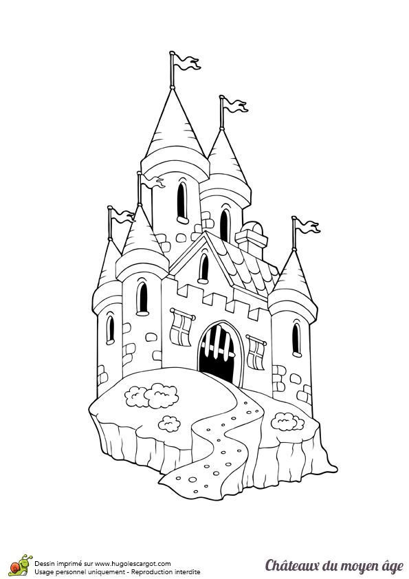 les 57 meilleures images du tableau coloriages de châteaux et