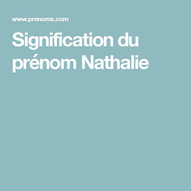 Signification du prénom Nathalie