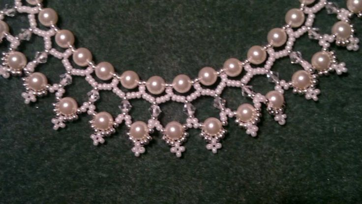 Beading4perfectionist : Swarovski 6mm pearl and 4mm bicone necklace bead...