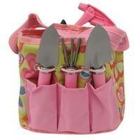 UNKNOWN-HOME AND GARDEN-Garden Tools-Ladies 5 Piece Gardening Tool Kit-£9.00-5 Piece Gardening Tool Kit  The 5 Piece Gardening Tool Kit is perfect for those with green fingers, featuring a compact carry bag with a bright garden print and carry handle to the top. This gardening kit also comes with a mini rake, trowel, transplanter, pruning shears and a water spray bottle.     > Gardening kit  > Carry bag   > Mini rake   > Mini trowel   > Mini transplanter  > Pruner shears  > Water sprayer