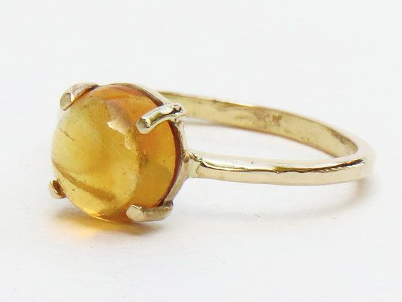 ready to ship, Citrine Ring, 14k Citrine Ring, citrine jewelry, Solid gold ring, yellow, recycled gold
