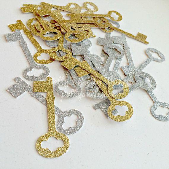 Glitter Keys Die Cuts Glitter Keys Confetti by PattyAntlesPrettys