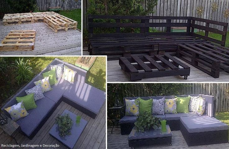 Reuse pallets - Couch in Balcony
