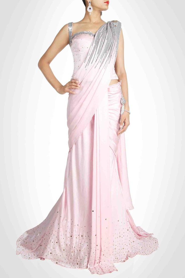 Pink Lehenga Sari