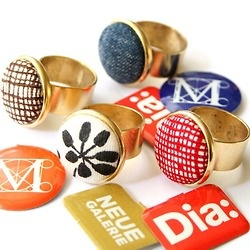 The Modern Ring by Nest Pretty Things  https://www.etsy.com/listing/102258826/the-modern-ringIdeas Jewelry, Modern Rings, Plates Modern, Pretty Things, Le Pretty, Nests Pretty, Costado Fashionista, Bridal Style, Fabrics Buttons