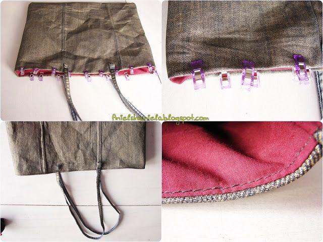 Diy tutorial gold tote bag ,handmbag Handmade  Klik