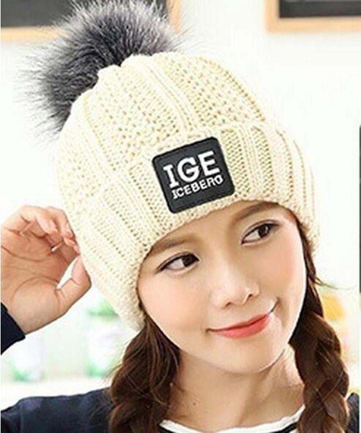 $5.45 (Buy here: https://alitems.com/g/1e8d114494ebda23ff8b16525dc3e8/?i=5&ulp=https%3A%2F%2Fwww.aliexpress.com%2Fitem%2F2016-new-knitted-hat-fashion-Women-big-Real-Raccoon-Fur-pom-pom-Caps-Crochet-Hats-For%2F32746677140.html ) 2016 new knitted hat fashion Women big Real Raccoon Fur pom pom Caps Crochet Hats For Women Winter Cute Casual Cap Women Beanies for just $5.45