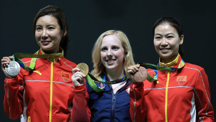 American teenager Virginia Thrasher won the first gold medal of the Olympic Games Rio 2016, holding her nerve to clinch the women's 10m air rifle event. She edged out China's Du Li with an Olympic record score of 208. Yi Siling (China) finished third.