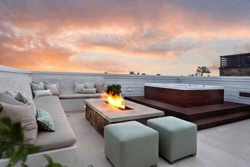 Patterson Construction home in Newport Beach.Bayshores Roof Deck by JKoegel.