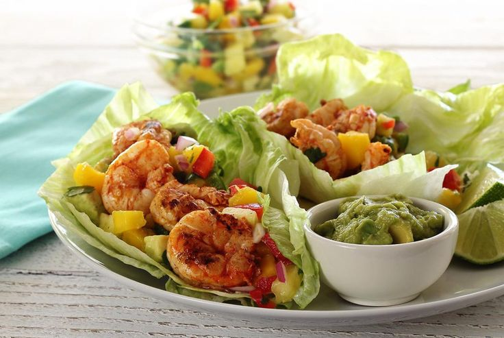 Enjoy a healthy, hand-held paleo wrap filled with spicy grilled shrimp, salsa and avocado. Easy seasoning mix for grilling the shrimp included.