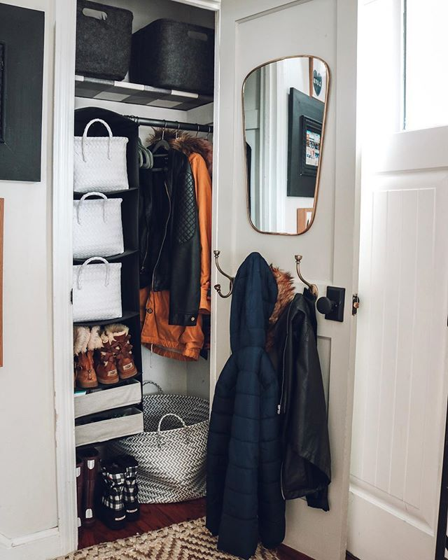 Small Space Living Feature You Won T Believe This Rv Nesting With Grace Entry Closet Entry Closet Organization Closet Makeover