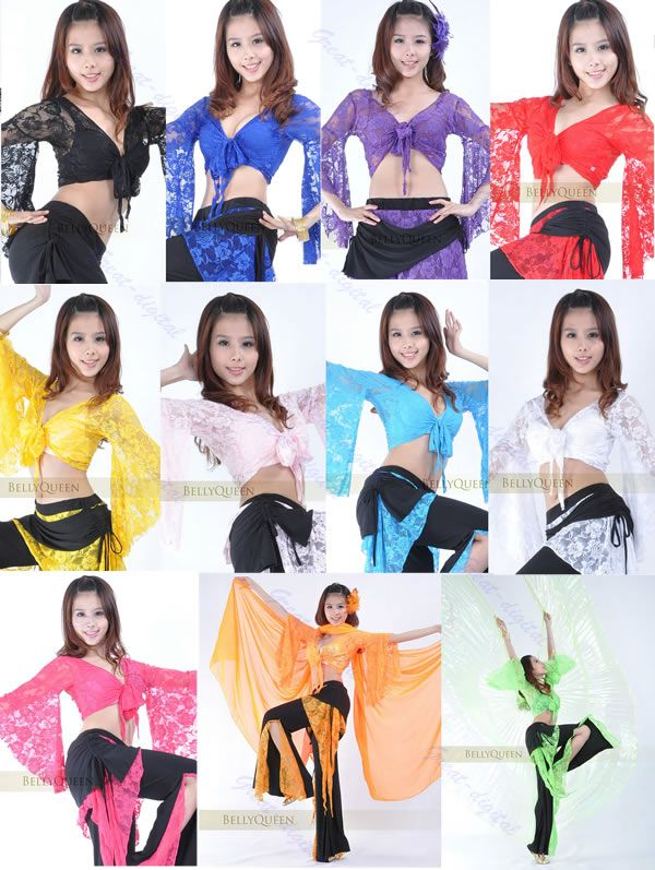 Sexy Belly Dance Dancing Lace Blouse Choli Top Bra Dancewear Costumes 11 Colors | eBay
