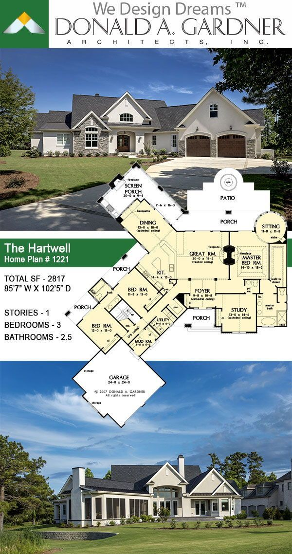 Rustic Ranch Home Plan Family House Plans Ranch House Exterior House Plans