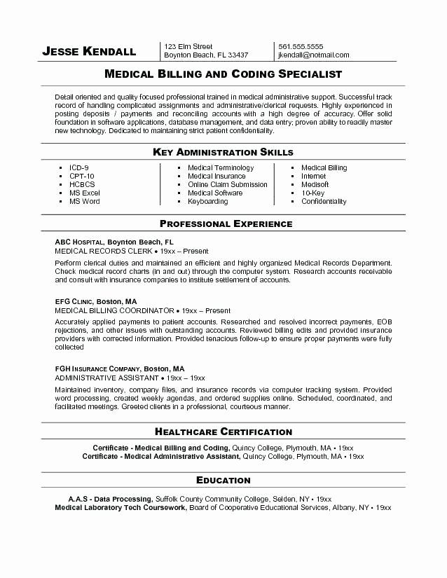 23 Medical Biller Resume Examples In 2020 With Images Medical