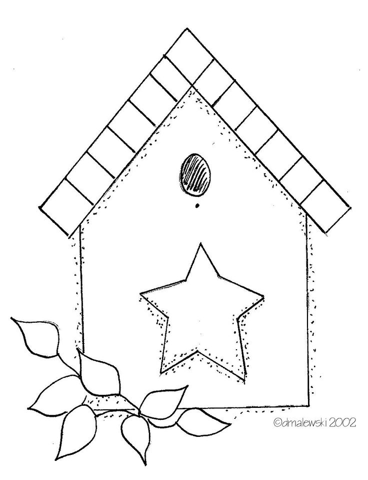 Line Art Quilt Pattern : Best bird birdhouse s applique quilt patterns