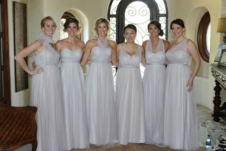 My Unbelievably Gorgeous Bridesmaids In The Jenny Yoo Annabelle Dress From Bhldn Mist Grey Knighted92017 Pinterest Winter Wedding Ideas