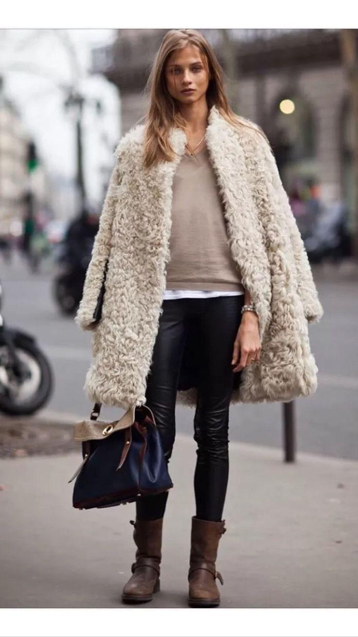 RARE MANTEAU SANDRO FOURRURE 100 % AGNEAU ET CUIR TAILLE 2 in Vêtements, accessoires, Femmes: vêtements, Manteaux, vestes | eBay