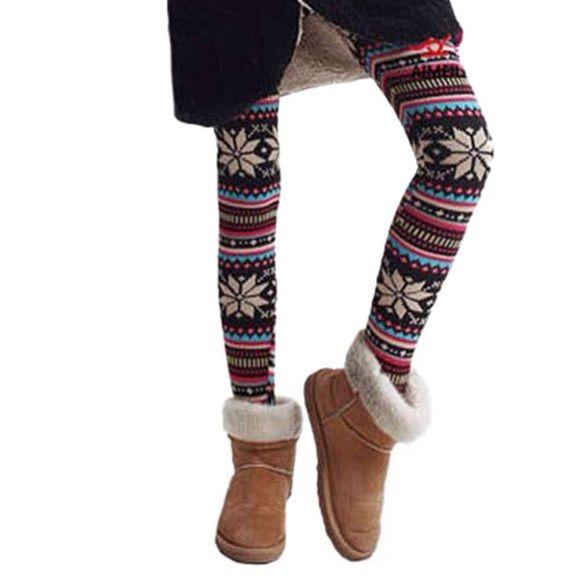 ⭐️Small Nordic Snowflake Winter Leggings⭐️ ‼️Size Small retro & colorful trendy winter leggings - 100% cotton - brand new‼️ The Haute Holly-Would Hive LLC Pants Leggings