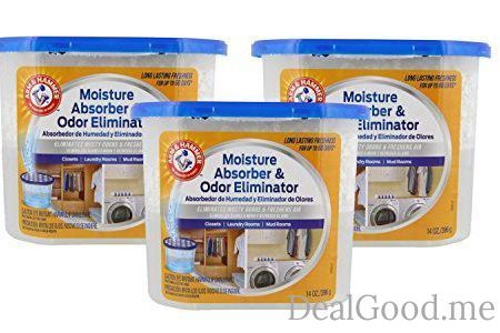 Arm & Hammer Moisture Absorber & Odor Eliminator 14oz Tub 3 Pack  Eliminates Musty Odors & Freshens Air for Closets Laundry rooms Mud Rooms