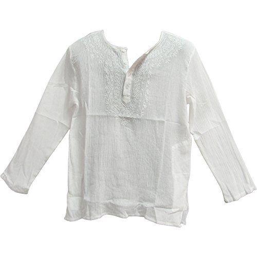 Mens Indian White Bohemian Crinkled Gauze Cotton Embroide... https://www.amazon.com/dp/B01865Z1L8/ref=cm_sw_r_pi_dp_x_gtJfzbTJ5EHK5