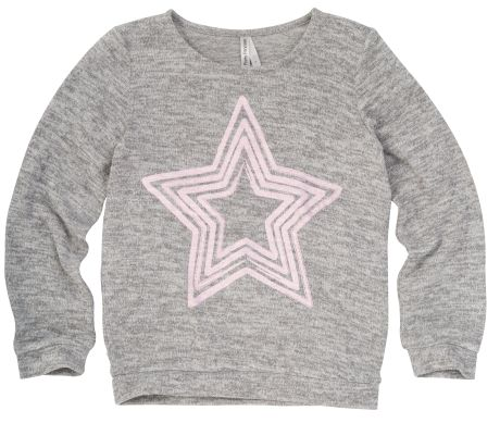 Great as part of a casual look this crew neck knit jumper features a star print on the front.