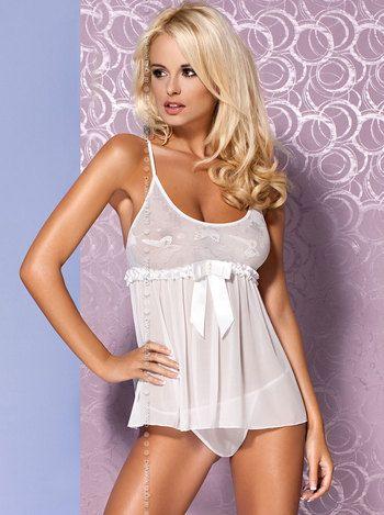 Babydoll mistia wei von obsessive g nstig zu kaufen auf for Bra for wedding dress shopping