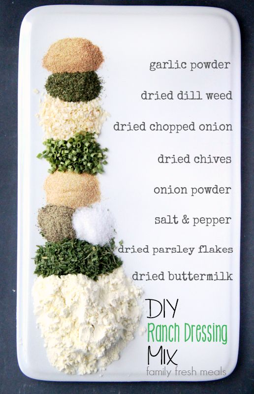 DIY Homemade Ranch Dressing Mix - Family Fresh Meals