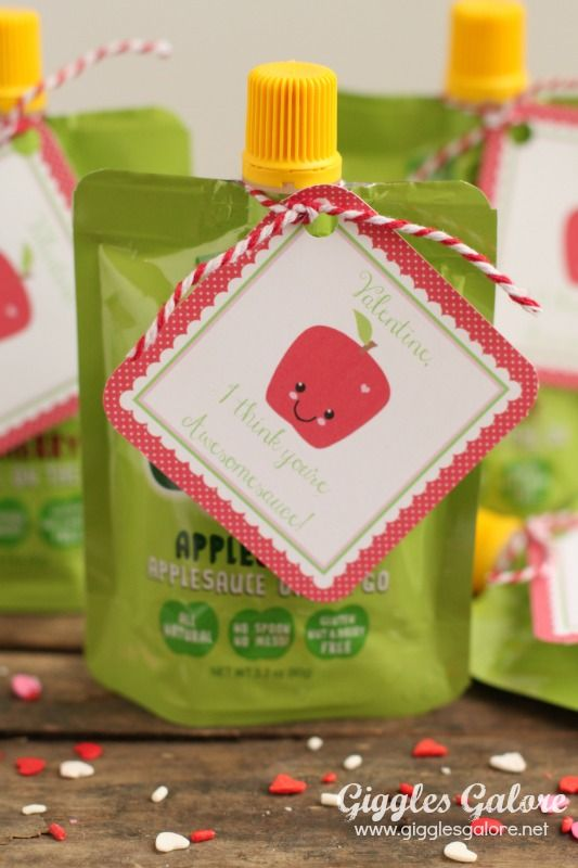 GoGo Squeeze Preschool Valentines by Giggles Galore! FREE PRINTABLE by DimplePrints