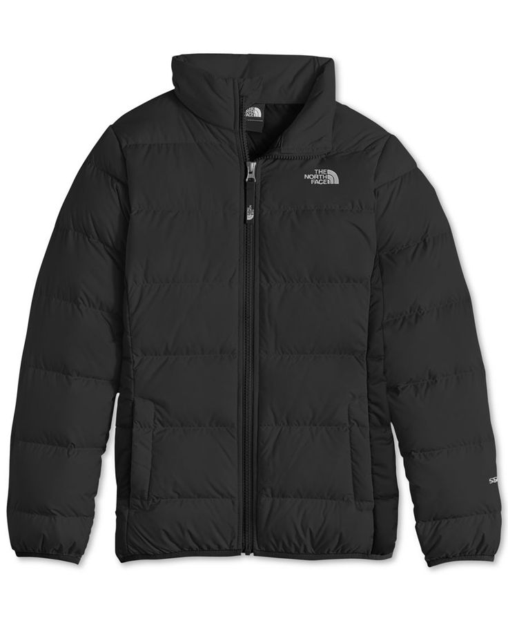 The North Face presents warmth that stands up to the weather with this down-filled puffer jacket, featuring a durable water-repellent finish. | Body and lining: polyester; insulation: Responsible Down
