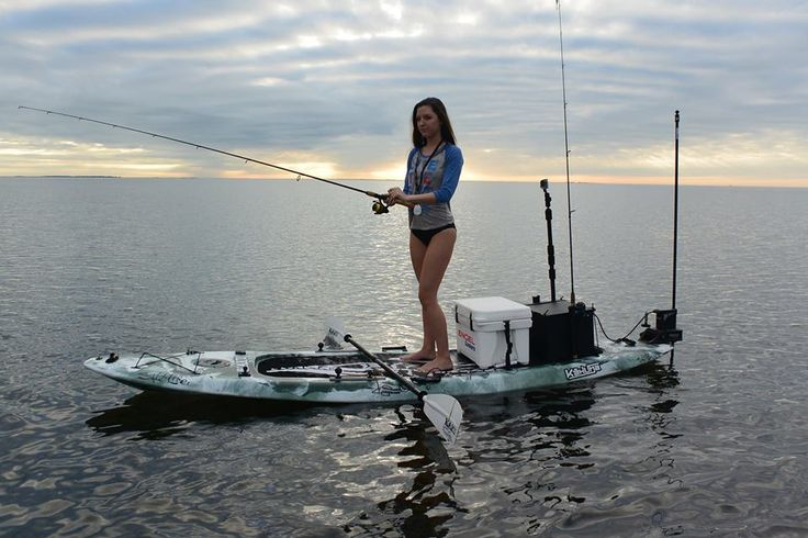 3358 best girls that fish images on pinterest fishing for Fishing canoe setup