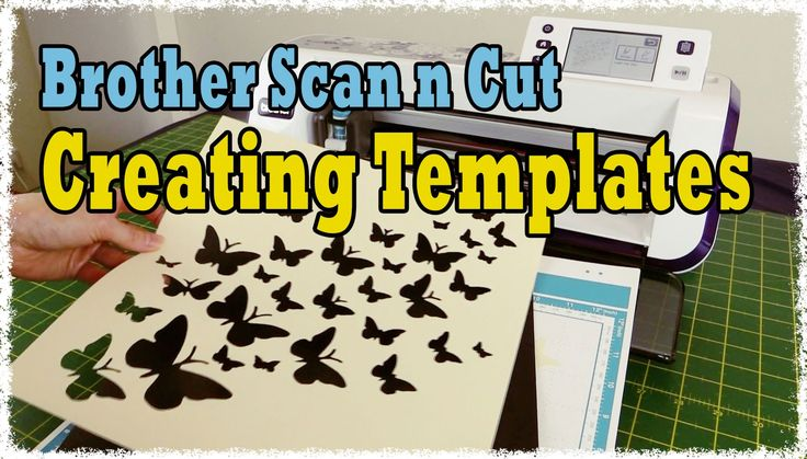 Brother Scan n Cut Tutorial: Create Duplicate Templates and Shapes