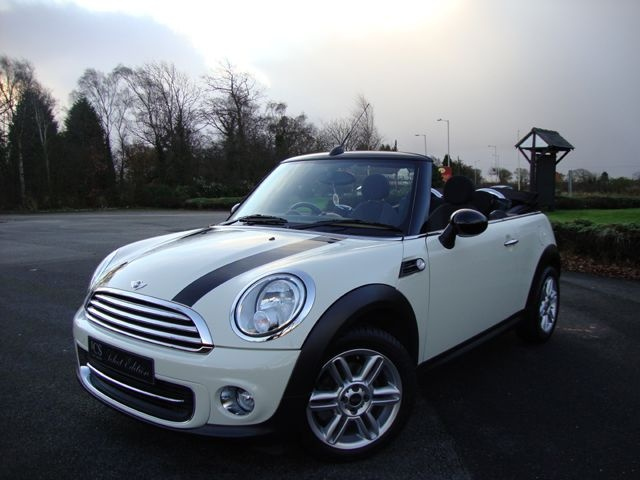 Perfect! Creame White Mini Cooper Convertible (like this, but not a vert)