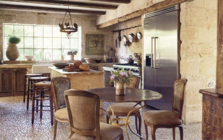 Pamela Pierce on French Style | Maison & Co. ~ Another French biot  ~  on the left side of the back counter, along with a French tian to the far right.: