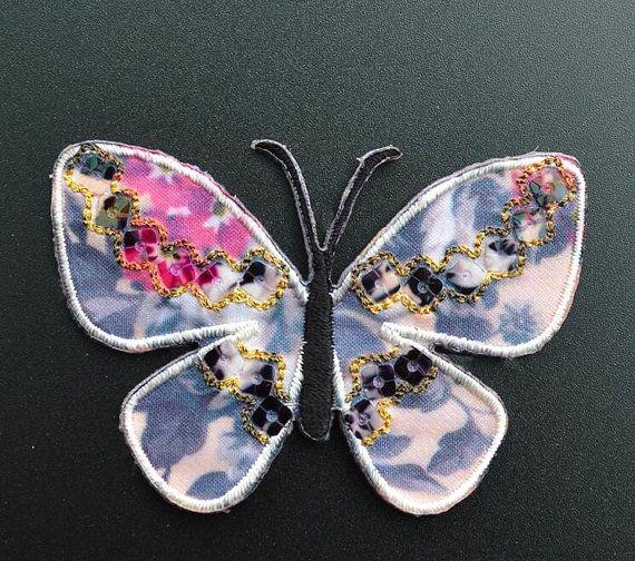 Patch ricamo farfalla farfalla pizzo Applique di sunnyfashionstore