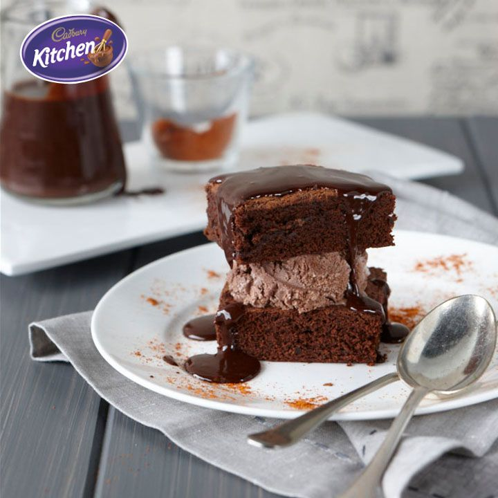 Score some brownie points. These Chipotle & Cinnamon #Choc #Brownies may be greatest of all baked #sweet things, hovering perfectly between fudge and #cake.  To view the #CADBURY product featured in this recipe visit https://www.cadburykitchen.com.au/products/view/bournville-cocoa/