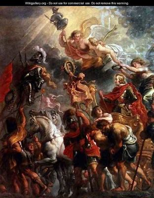 Entrada triunfal del Cardenal-Infante Don Fernando de Austria en Amberes, obra de Jan van den Hoecke.