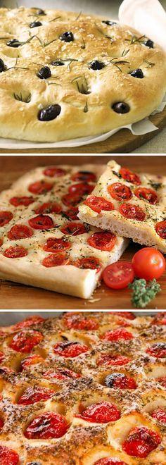 Focaccia Receta - paso a paso Vegan Snacks, Vegan Recipes, Cooking Recipes, Tapas, Focaccia Pizza, Calzone, Argentina Food, Good Food, Yummy Food