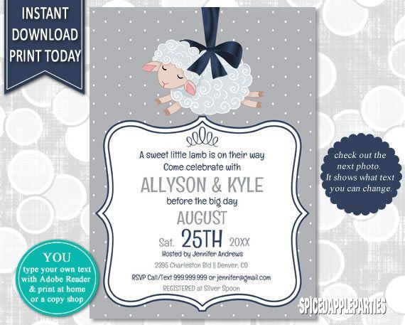 Lamb Baby Shower  Storybook Baby Shower Baby Shower Invite