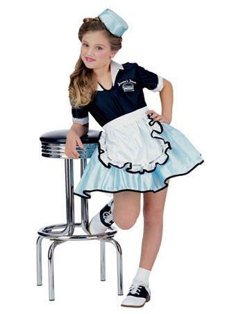 Car Hop Girl Kids Costume | Wholesale 50's Halloween Costume for Girls