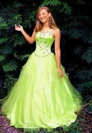 Resultado de imagen para vestidos de tul xv color verde