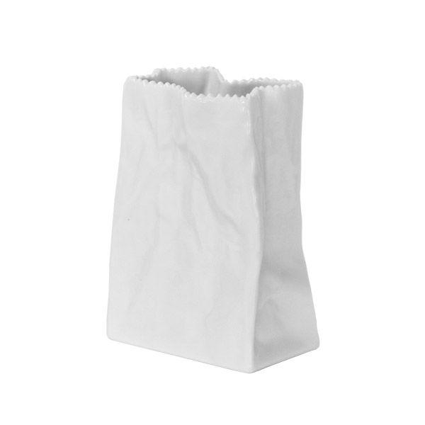 Rosenthal paper bag ceramic vase - design Tapio Wirkkala