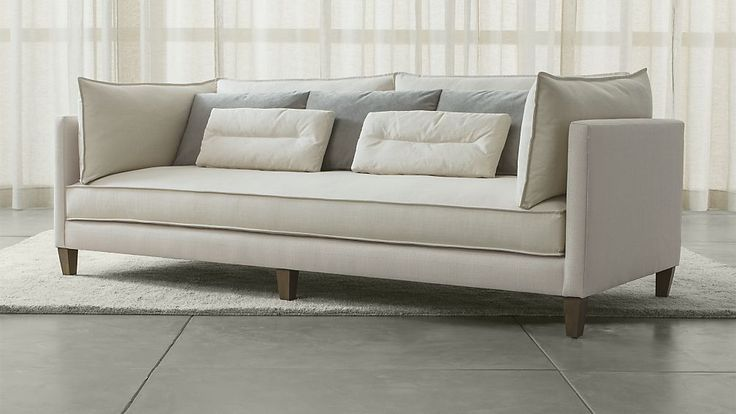 Asana Sofa Slate Blue Crate and Barrel new house Pinterest