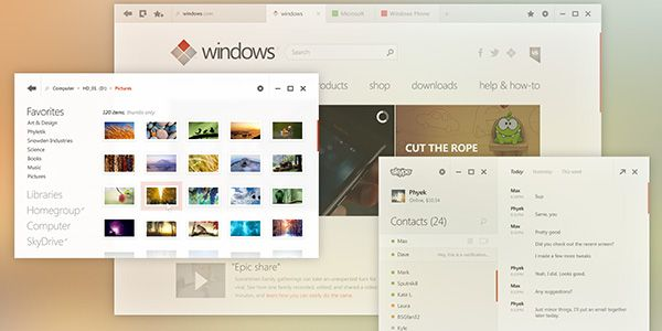 Metro User Interface: Description and Web Design Examples